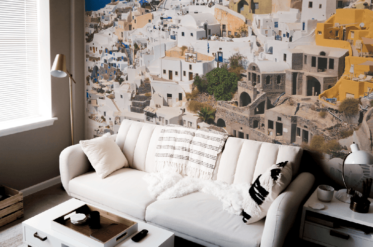 Fira, Greece Wall Mural-Buildings & Landmarks,Cityscapes-Eazywallz