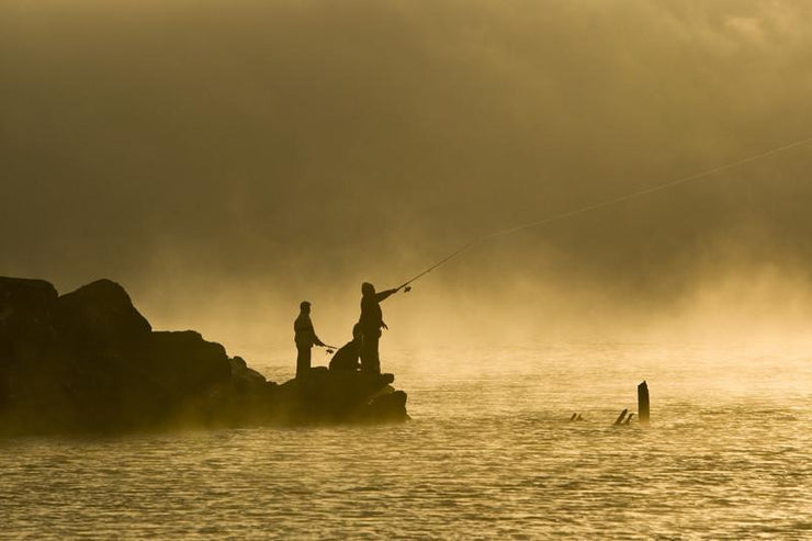 Fishermen at dawn Wall Mural-Sports-Eazywallz