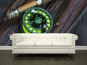 Fly reel Wall Mural-Sports-Eazywallz