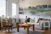 Fog & Fir Trees Wall Mural-Landscapes & Nature-Eazywallz