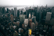 Foggy New York City Skyline Wall Mural-Cityscapes-Eazywallz