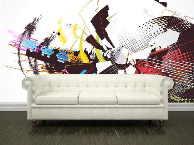 Futuristic design Mural-Abstract,Urban,Modern Graphics-Eazywallz