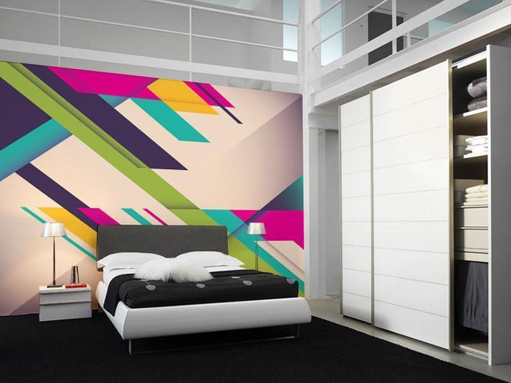 Geometric Art Mural-Abstract,Vintage,Modern Graphics-Eazywallz