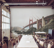 Golden Gate Bridge on the Shore Wall Mural-Buildings & Landmarks-Eazywallz