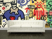 Graffiti sprayed on a wall Wall Mural-Urban,Modern Graphics-Eazywallz