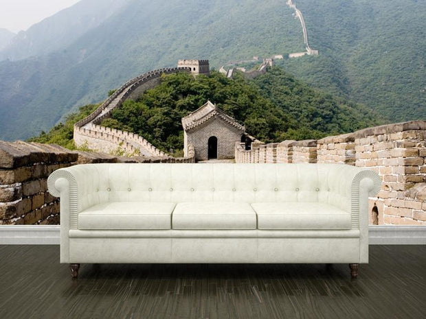 Great wall in Mutianyu, China Wall Mural-Buildings & Landmarks,Best Rated Murals-Eazywallz