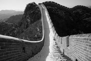 Great Wall in winter, China Wall Mural-Black & White,Buildings & Landmarks-Eazywallz