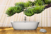 Green branch of a Japanese pine Wall Mural-Zen-Eazywallz