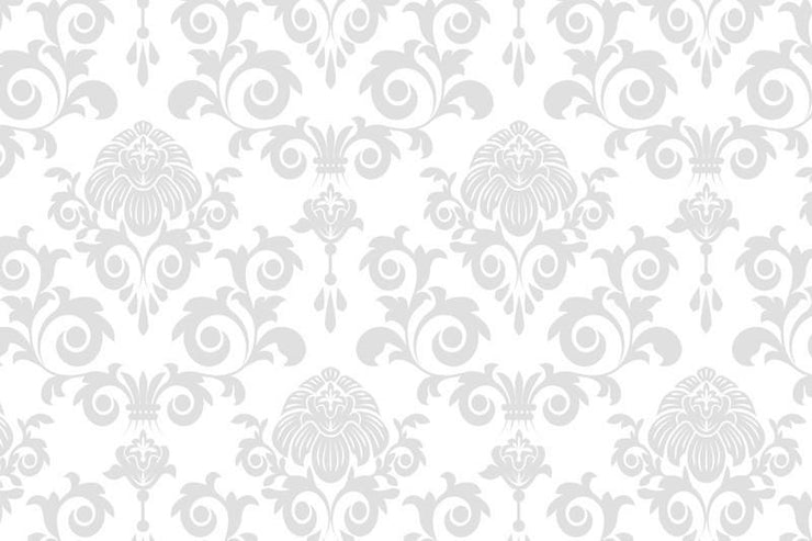 Grey damask Wall Mural-Patterns-Eazywallz