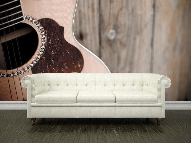 guitar against rusty wall Wall Mural-Arts,Vintage-Eazywallz