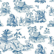 Hand Drawn Chinoiserie Style Wallpaper-wallpaper-Eazywallz