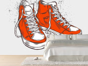 Hand-drawn sneakers Wall Mural-Urban,Modern Graphics-Eazywallz