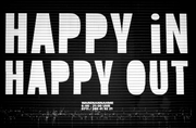 Happy in, Happy out Wall Mural-Urban-Eazywallz