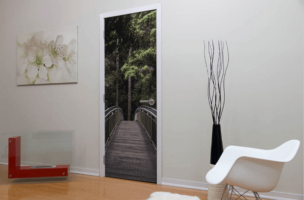 Heading into the Forest Door Mural-Landscapes & Nature-Eazywallz