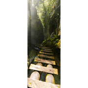 High Bridge through Forest Door Mural-Landscapes & Nature-Eazywallz