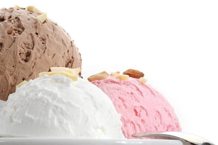Ice cream served with almonds Wall Mural-Food & Drink-Eazywallz