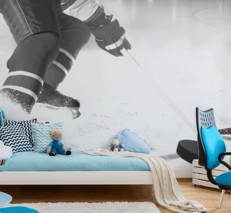 Ice Hockey Action Wall Mural-Sports-Eazywallz