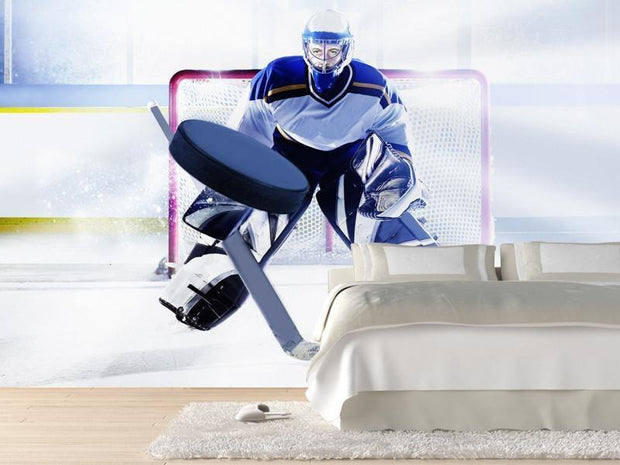 Ice hockey goalie Wall Mural-Sports-Eazywallz