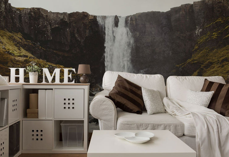 Icelandic Waterfall Wall Mural-Landscapes & Nature-Eazywallz