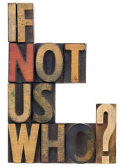 If Not Us Who? Wall Mural-Vintage,Words-Eazywallz