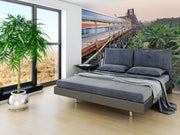 Industrial Green Boarder Wall Mural-Landscapes & Nature-Eazywallz