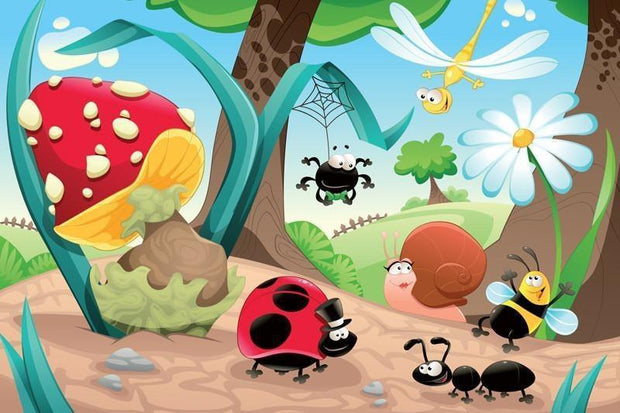 Insects family Wall Mural-Kids' Stuff-Eazywallz