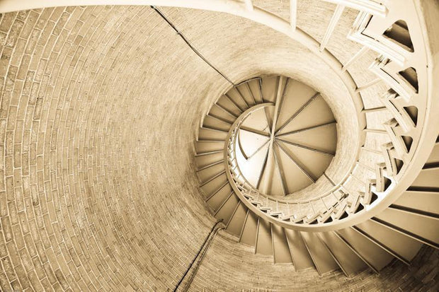 Interior steps of a lighthouse Mural-Abstract,Buildings & Landmarks-Eazywallz