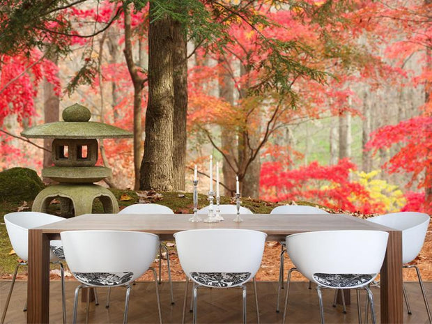 Japanese Lantern Wall Mural-Landscapes & Nature,Zen-Eazywallz