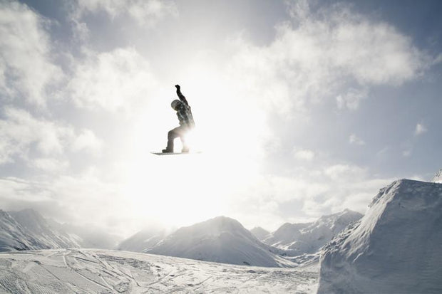 Jumping snowboarder Wall Mural-Landscapes & Nature,Sports-Eazywallz