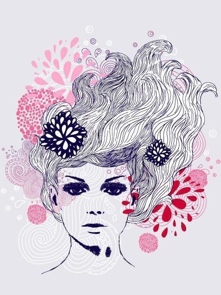 Lady Lines Wall Mural-Modern Graphics-Eazywallz