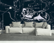 Leo Constellation Map in Navy Wall Mural-astrology-Eazywallz