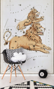 Leo Wall Mural-astrology-Eazywallz