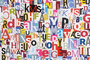 Letters Collage Wall Mural-Abstract,Urban,Vintage,Words-Eazywallz