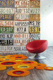 License Plate Collage Wall Mural-Transportation-Eazywallz