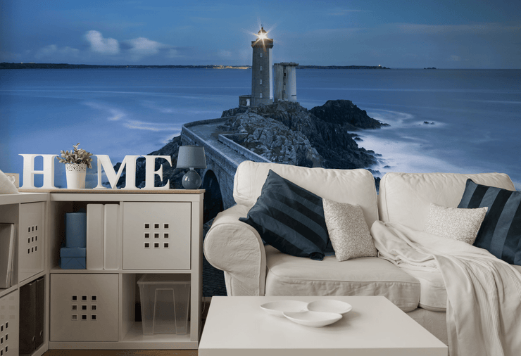 Lighthouse Walkway in France Wall Mural-Landscapes & Nature-Eazywallz