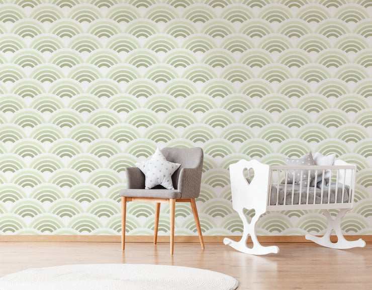 Mint Waves Wallpaper Mural