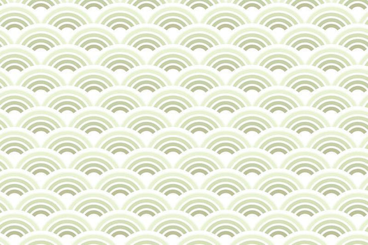 Lime waves pattern Wall Mural-Patterns-Eazywallz