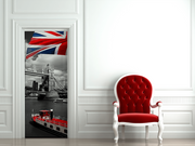 London Flag Door Mural-Transportation-Eazywallz