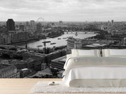 London Wall Mural-Black & White,Cityscapes,Best Rated Murals-Eazywallz