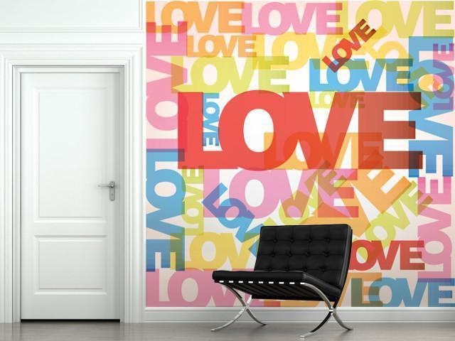 Love Celebration Wall Mural-Vintage,Modern Graphics,Words,Featured Category of the Month-Eazywallz