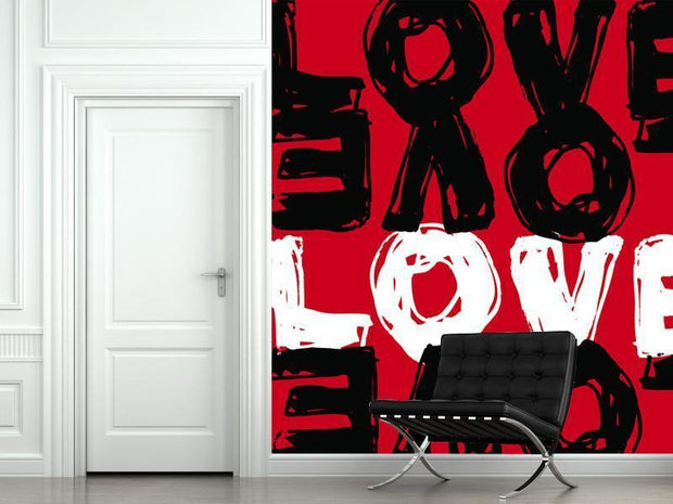 Love Illustration Wall Mural-Urban,Modern Graphics,Words,Featured Category of the Month-Eazywallz