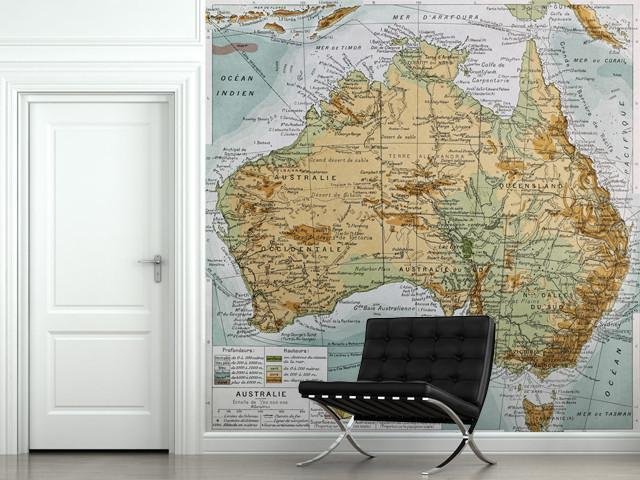 Map of Australia Wall Mural-Maps-Eazywallz