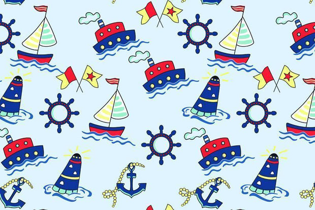 Marine pattern Wall Mural-Kids' Stuff-Eazywallz