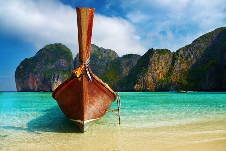 Maya Bay, Thailand Wall Mural-Transportation,Tropical & Beach-Eazywallz