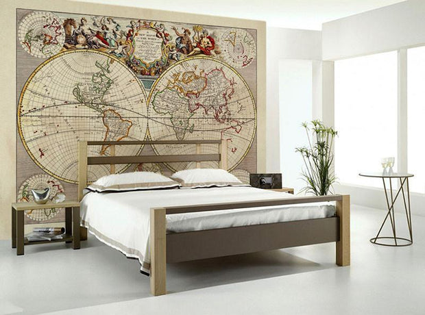 Medieval World Map Wall Mural-Maps-Eazywallz