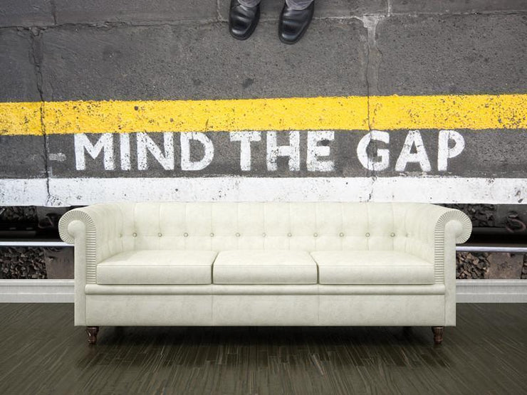 Mind the gap Wall Mural-Transportation,Urban-Eazywallz