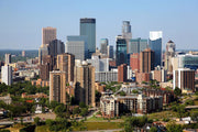 Minneapolis Skyline Wall Mural-Cityscapes-Eazywallz