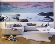 Misty Seascape Wall Mural-Landscapes & Nature,Panoramic-Eazywallz