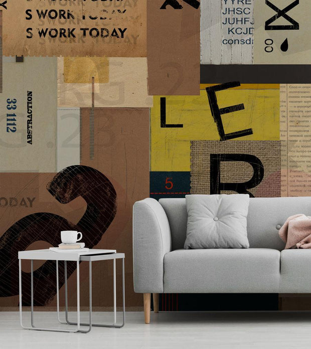 Mixed Word Collage Wallpaper Mural-Modern Graphics,Words,Featured Category of the Month-Eazywallz