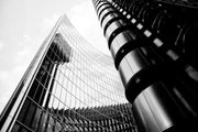Modern Skyscraper Wall Mural-Abstract,Black & White,Buildings & Landmarks-Eazywallz